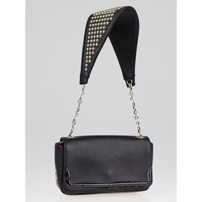 Christian Louboutin Black Leather Artemis Studs Shoulder Bag