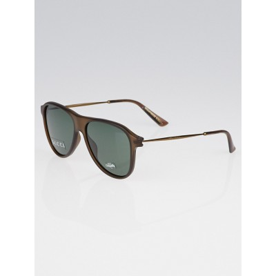 Gucci Brown Optyl Frame Aviator Sunglasses-1058/S