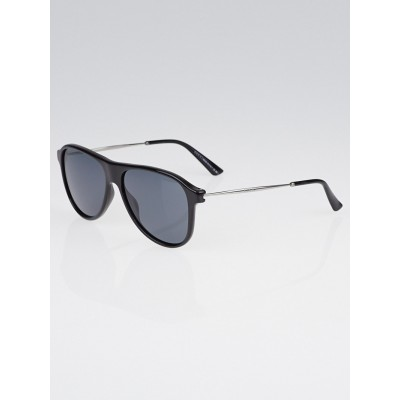 Gucci Black Optyl Frame Aviator Sunglasses-1058/S