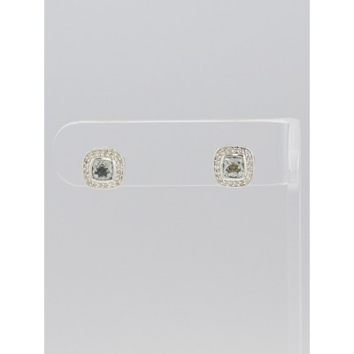 David Yurman 5mm Prasiolite and Diamond Petite Albion Earrings