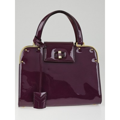 Yves Saint Laurent Purple Patent Leather Small Uptown Bag
