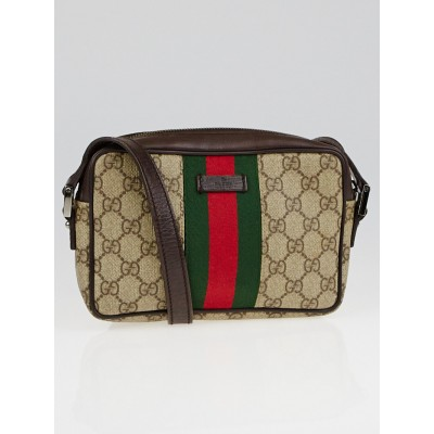 Gucci Beige/Ebony GG Coated Canvas Vintage Web Small Messenger Bag