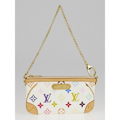 Louis Vuitton White Monogram Multicolore Milla MM Pochette Bag