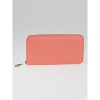 Hermes Flamingo Epsom Leather Silk'in Long Wallet