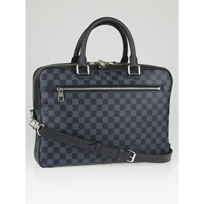 Louis Vuitton Damier Cobalt Canvas Porte Document Business Briefcase Bag