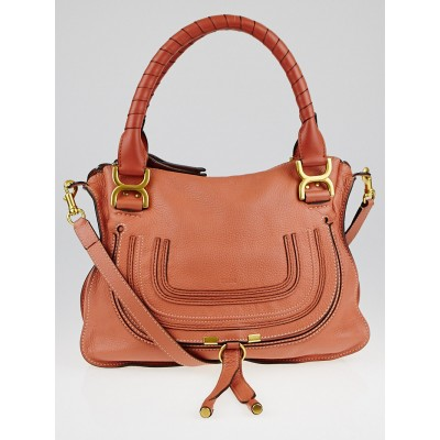 Chloe Coral Calfskin Leather Medium Marcie Satchel Bag