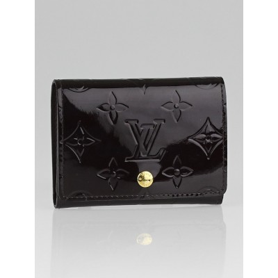 Louis Vuitton Amarante Monogram Vernis Business Card Holder