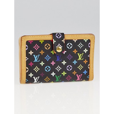 Louis Vuitton Black Monogram Multicolore French Purse Wallet