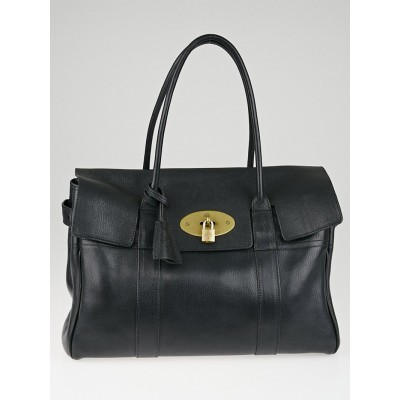 Mulberry Black Vegetable Tanned Leather Bayswater Bag