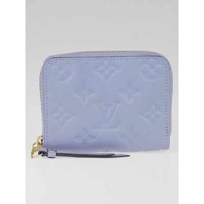 Louis Vuitton Lilas Monogram Empreinte Leather Zippy Coin Purse