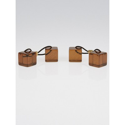 Louis Vuitton Brown Resin Hair Cubes