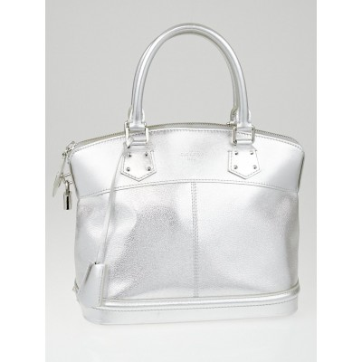 Louis Vuitton Silver Suhali Leather Lockit PM Bag