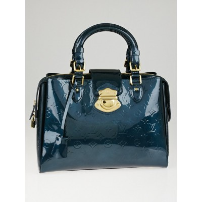 Louis Vuitton Bleu Nuit Monogram Vernis Melrose Avenue Bag