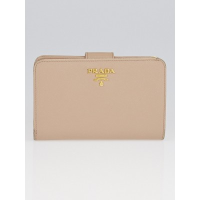 Prada Cammeo Saffiano Metal Leather Lampo Wallet 1M1225