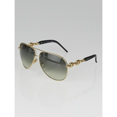 Gucci Metal Frame Glasses : Gucci Black Metal Frame Gradient Tint Aviator Sunglasses ...