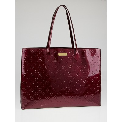 Louis Vuitton Rouge Fauviste Monogram Vernis Wilshire GM Bag