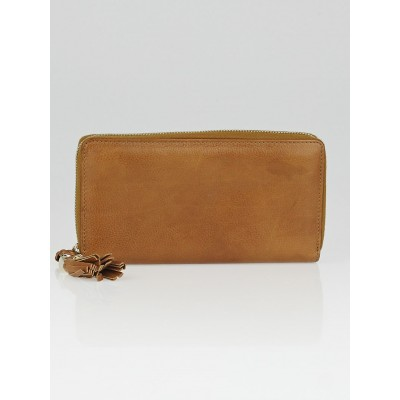 Gucci Brown Leather Marrakech Zippy Long Wallet