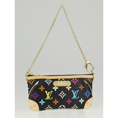 Louis Vuitton Black Monogram Multicolore Milla MM Pochette Bag