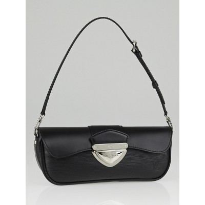 Louis Vuitton Black Epi Leather Montaigne Clutch Bag