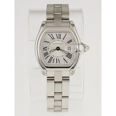 Cartier Stainless Steel 32mm Stainless Steel and Mother-of-Pearl Roadster Ladies Watch