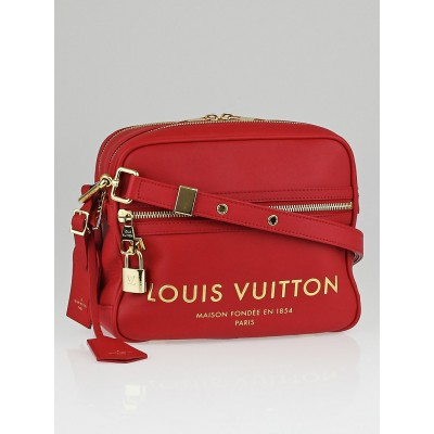Louis Vuitton Limited Edition Red Leather Flight Bag Paname Takeoff Bag