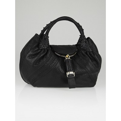 Fendi Black Nappa Leather Spy Bag