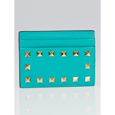 Valentino Colibri Nappa Leather Rockstud Card Holder