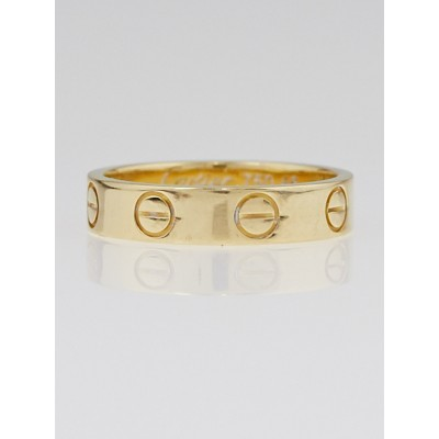 Cartier 18k Gold LOVE Ring Size 46/3.75