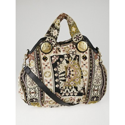 Gucci Multicolor Embroidered Tapestry Fabric Hysteria Medium Top Handle Bag