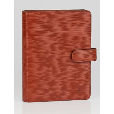 Louis Vuitton Kenyan Fawn Epi Leather Medium Ring Agenda/Notebook Cover