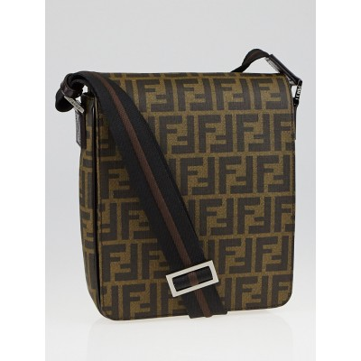 Fendi Tobacco Spalmati Coated Canvas Messenger Bag