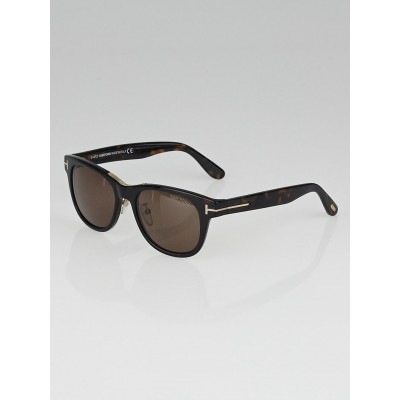 Tom Ford Brown Havana Acetate Frame Cary Sunglasses- TF9257