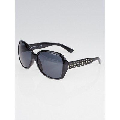 Prada Black Oversized Frame Studded Sunglasses - SPR04M