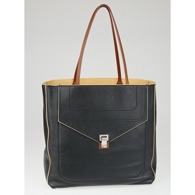 Proenza Schouler Black Leather PS1 Luxe Shopping Tote Bag