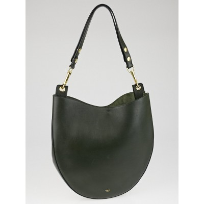Celine Forest Calf Leather Medium Hobo Bag