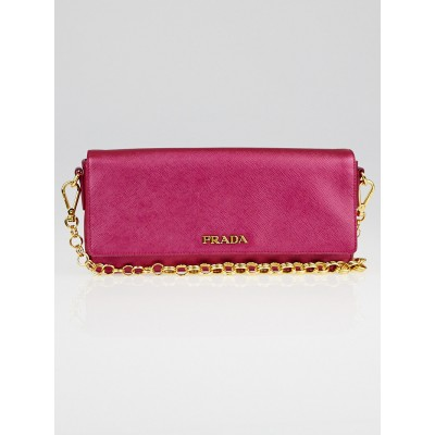 Prada Ibisco Mordore Saffiano Lux Leather Clutch Bag BR4122