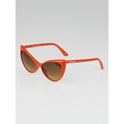 Tom Ford Orange Acetate Frame Cat-Eye Anastasia Sunglasses - TF303