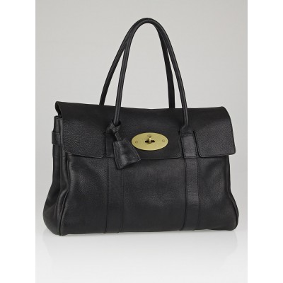 Mulberry Black Polished Buffalo Leather Bayswater Bag