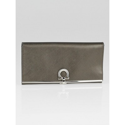 Salvatore Ferragamo Oro Leather Gancini Icona Wallet