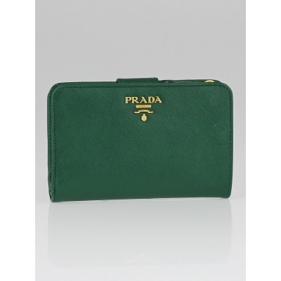 Prada Biliardo Saffiano Metal Leather Lampo Wallet 1M1225