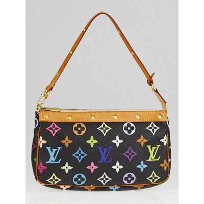 Louis Vuitton Black Monogram Multicolore Accessories Pochette Bag