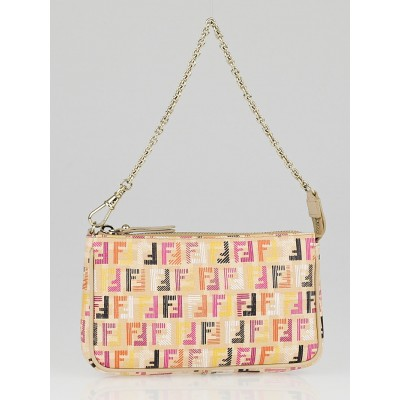 Fendi Multicolor Forever Techno Coated Canvas Crayons Small Pouch Bag 8M0271