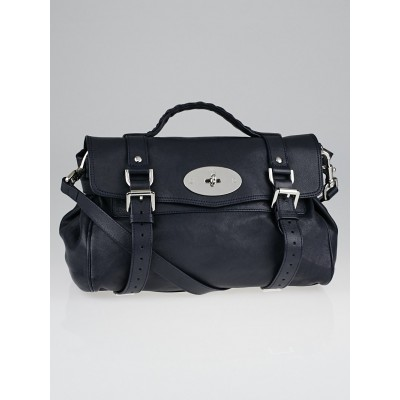 Mulberry Navy Blue Leather Alexa Bag