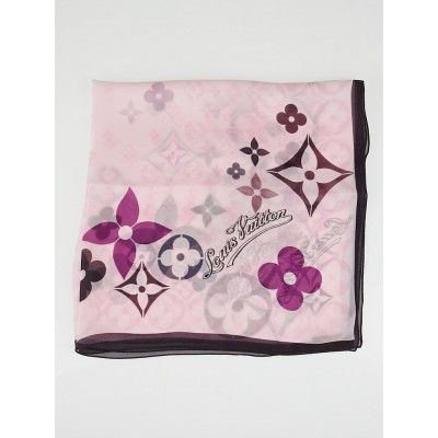 Louis Vuitton Travelling Requisites Crepe Silk Scarf
