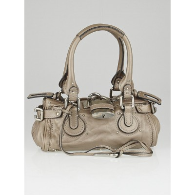 Chloe Argent Leather Paddington Mini Satchel Bag