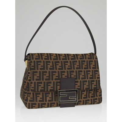 Fendi Tobacco Zucca Print Canvas Big Mamma Forever Flap Bag 8BR638