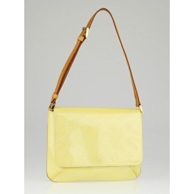 Louis Vuitton Lime Yellow Monogram Vernis Thompson Street Bag