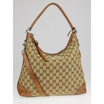 Gucci Beige/Brown GG Canvas Miss GG Original Hobo Bag