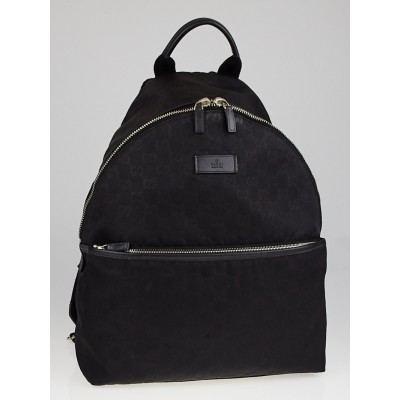 Gucci Black Guccissima Nylon Medium Backpack Bag