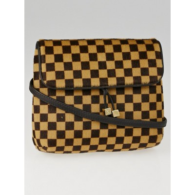 Louis Vuitton Limited Edition Damier Sauvage Calf Hair Gazelle Bag
